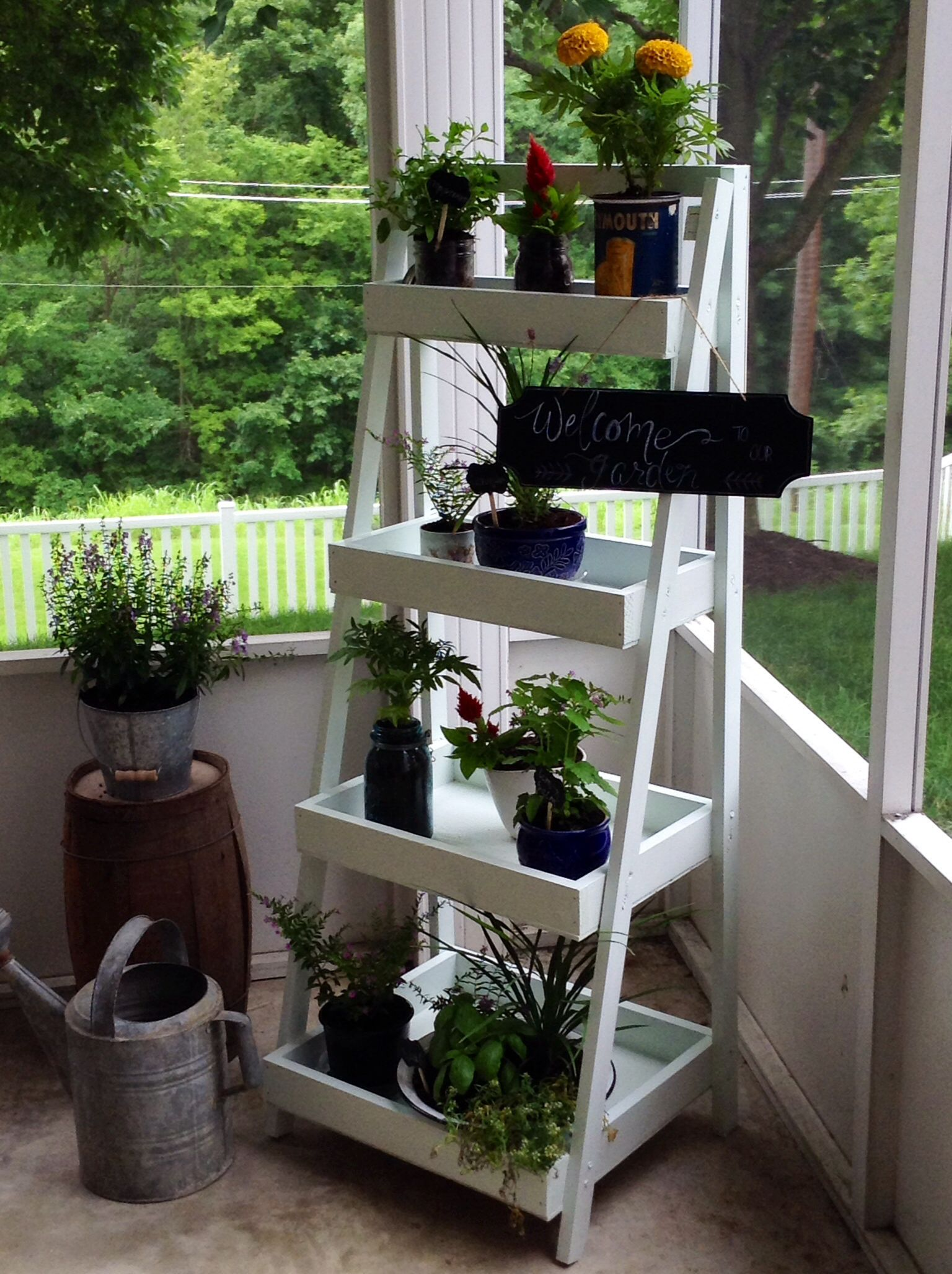 Diy plant stand made from ana white plans garden shed