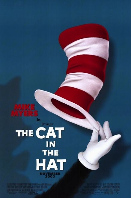Dr Seuss The Cat In The Hat Movie Poster 11 X 17 Item Movce6108 Posterazzi Cat In The Hat Movie Childrens Movies Family Movie Poster
