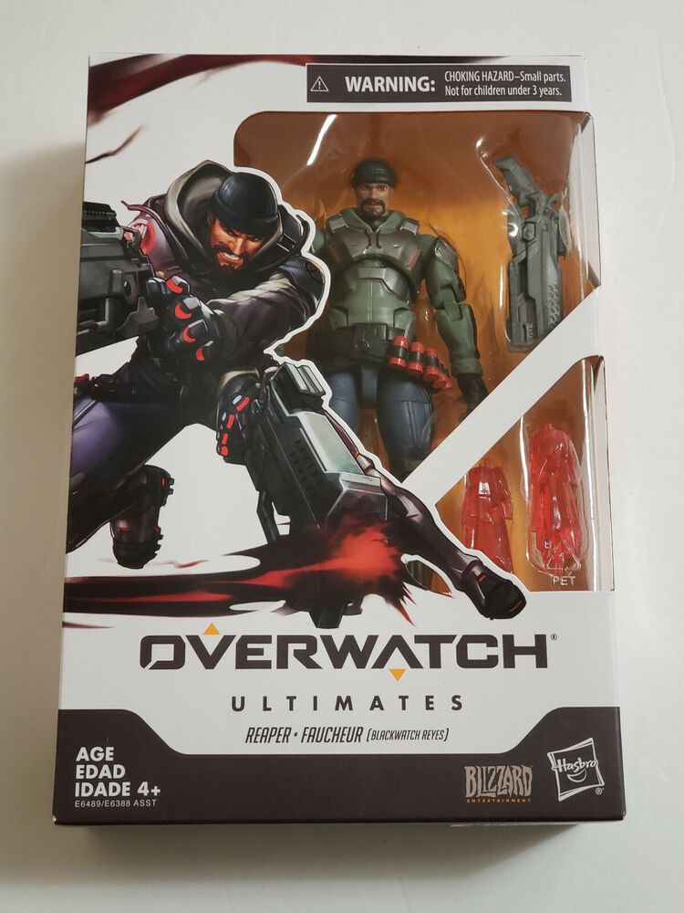 """Overwatch Ultimates Series 6"""" REAPER Action Figure NM Hasbro Blizzard In Hand"""