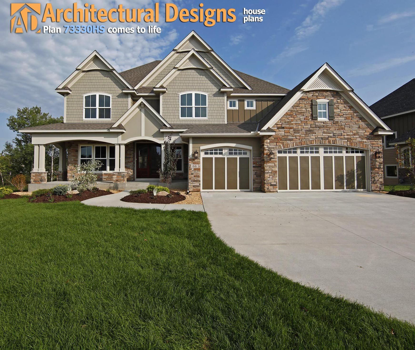 Delorme Designs Awesome Bungalow Craftsman: Plan 73330HS: Craftsman With Amazing Great Room