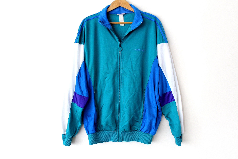 Red Blue White Tracksuit USA Windrunner Activewear Men/'s LXL Shiny Jacket Rare Top Full Zip Sweatshirt Vintage 90/'s Windbreaker