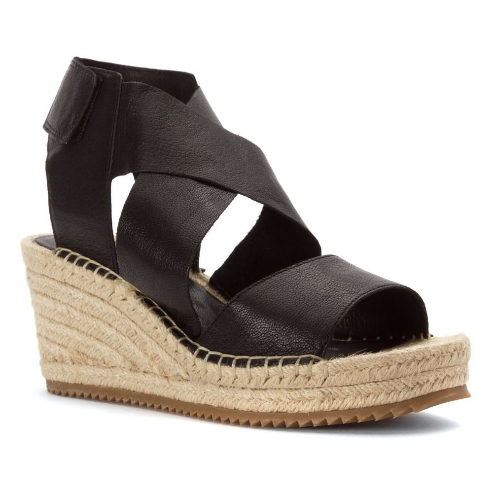 Eileen Fisher Willow | Women's - Black Tumbled Leather