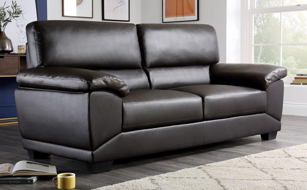 Oregon Brown Leather 3 Seater Sofa 2 Seater Sofa Sofa Sofa Furniture