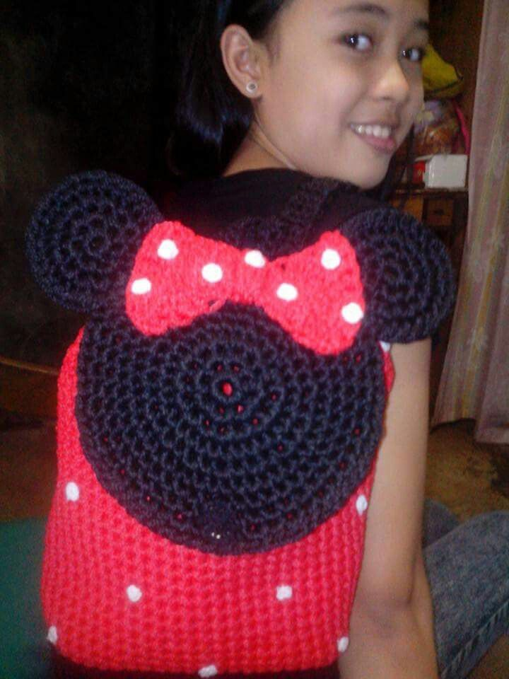 Minnie Mouse Backpack Idea Only | Crochet & Knit Projects ...