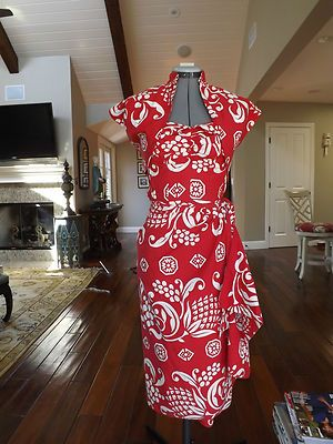 Vintage 50s Kahala Hawaiian halter sarong dress with bolero S