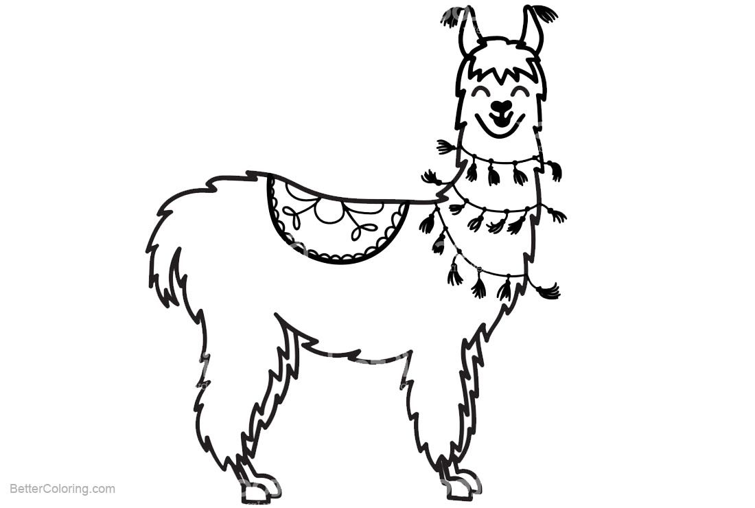 Free Llama Coloring Pages Smiling Printable For Kids And Adults Animal Coloring Pages Coloring Pages Glass Painting Patterns