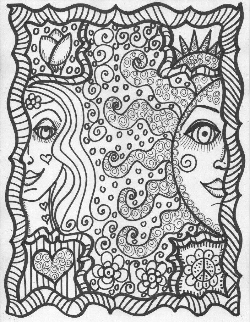 Pin by Stina on Hippie Coloring Pages | Pinterest | Adult coloring ...
