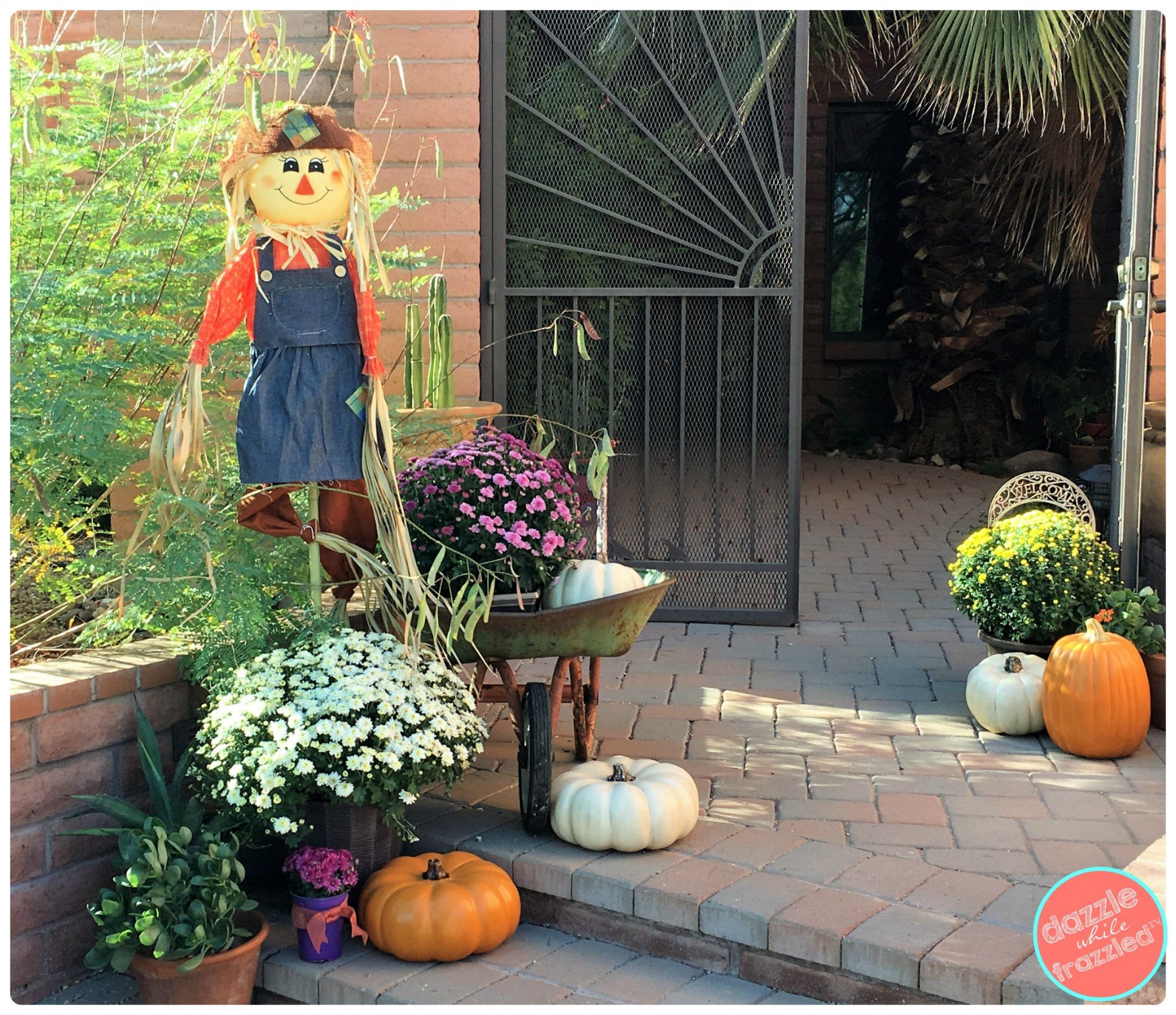 Outdoor Front Porch Decorating Ideas For Autumn And The Harvest Season Easy And Affordable Fa Fall Decorations Porch Front Porch Decorating Fall Outdoor Decor