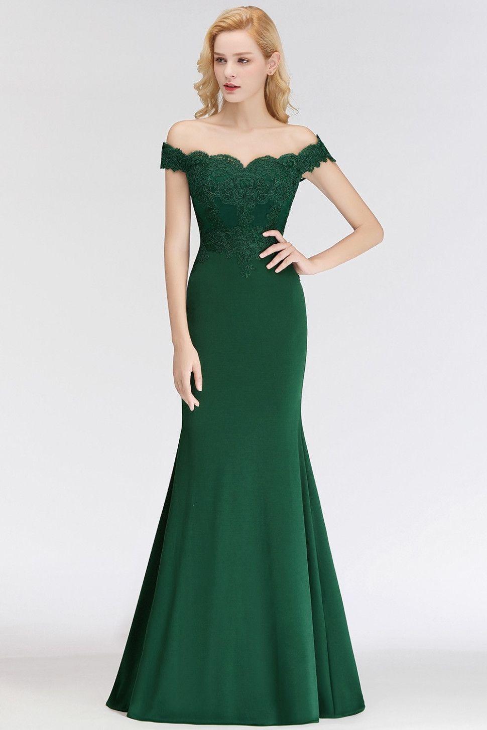 10 abendkleid lang grün | elegante brautjungfernkleider