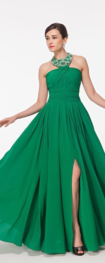 Unique Emerald Green Long Elegant Dresses