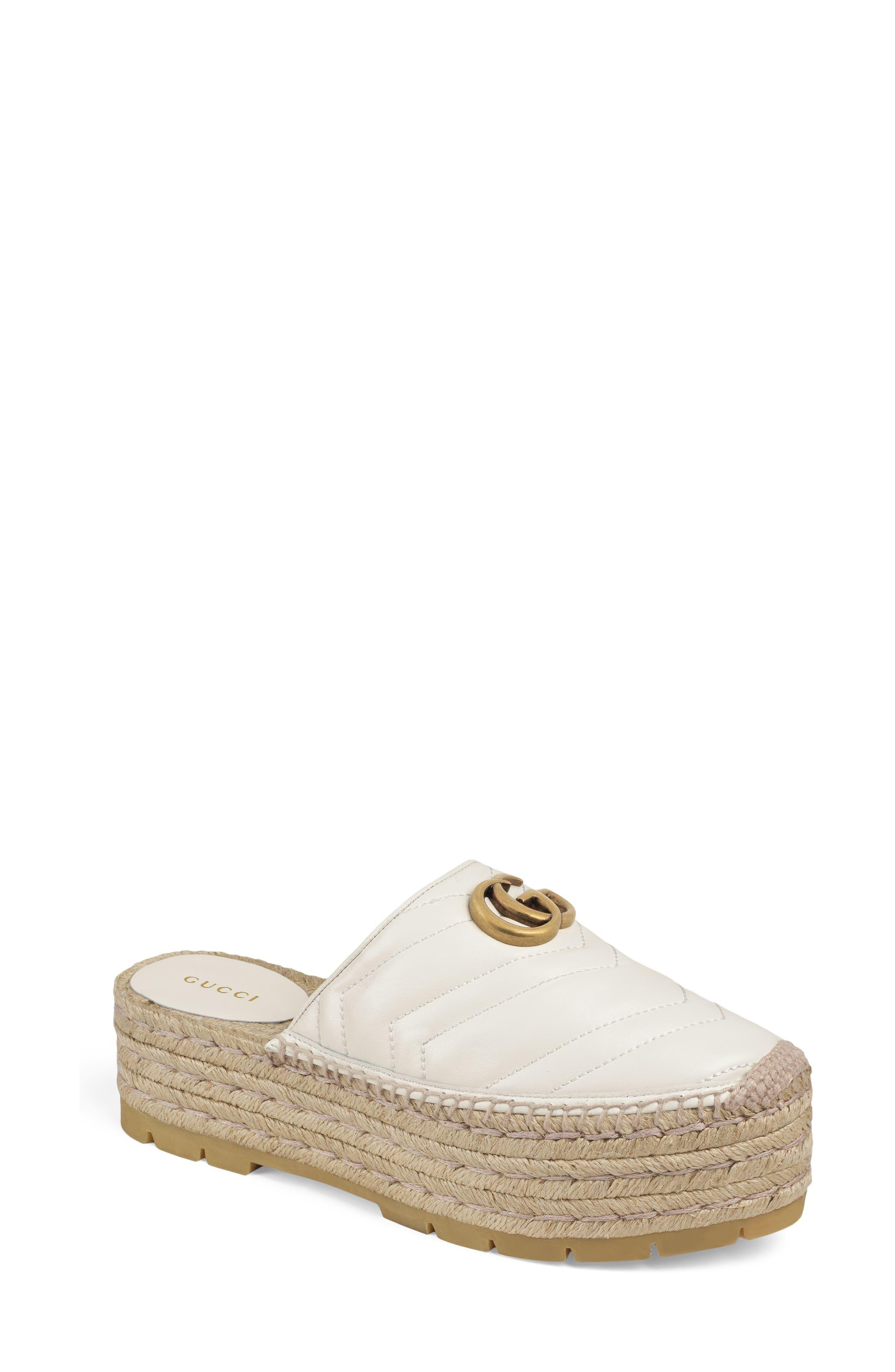 bb0f6da89 Women's Gucci Pilar Platform Espadrille Mule, Size 9.5US / 39.5EU - White