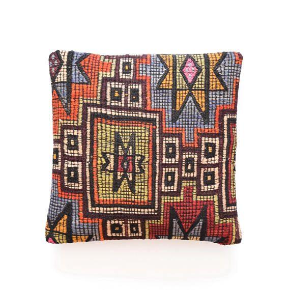 coussin bohemian rug pillow cushion covers 40cm turkish cushion
