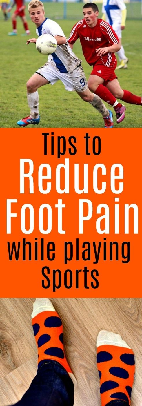 Learn how to reduce foot pain and problems caused by playing sports. #footpain