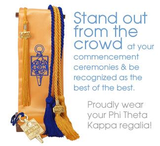 b4829cf0d7c PHI THETA KAPPA (PTK) International Honor Society --- Proudly worn ALL of  these four PTK regalia such elegant   honor items when walking across the  stage in ...