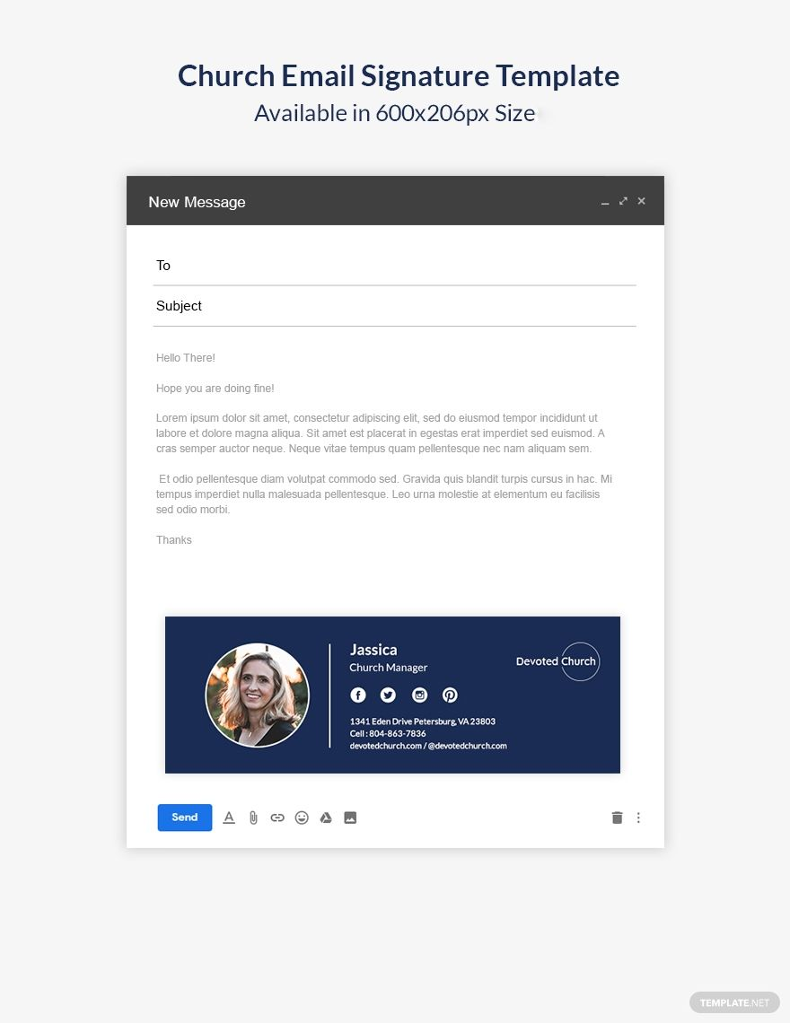 Church Email Signature Template in 2020 Email signature