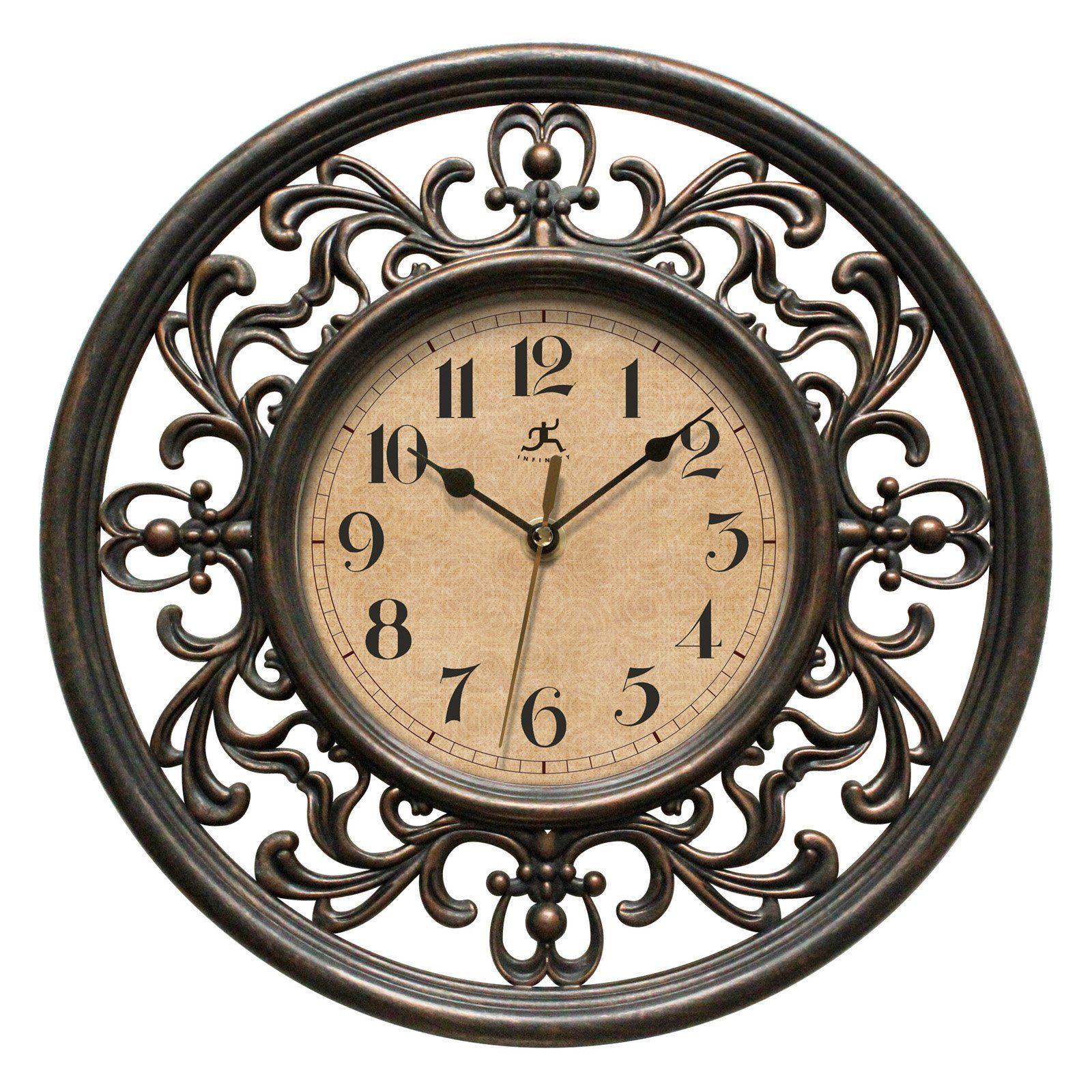 Infinity Instruments Sofia 12 In Wall Clock Www Hayneedle Com Traditional Clocks Silent