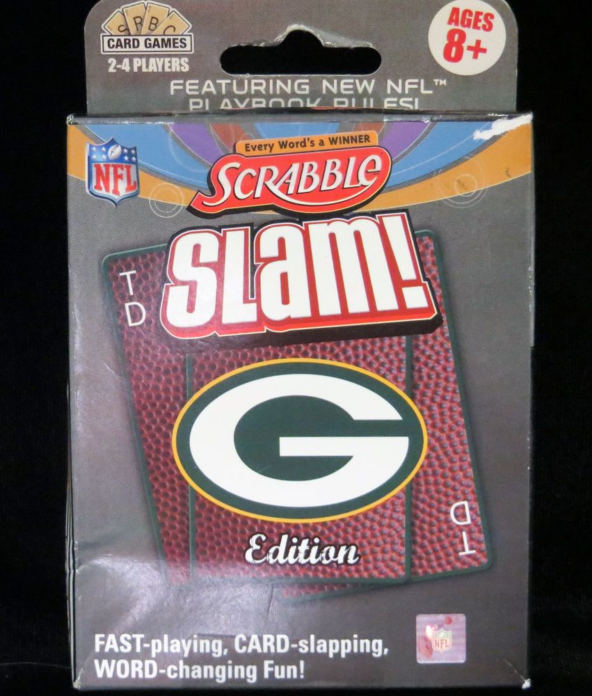 Nfl Green Bay Packers Scrabble Slam New Word Card Game Hasbro Ages 8