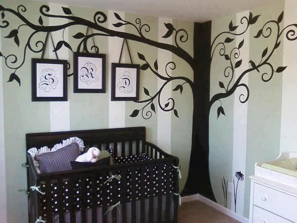 Tree Wall Art nursery family tree wall decor - wall art, family art ideas