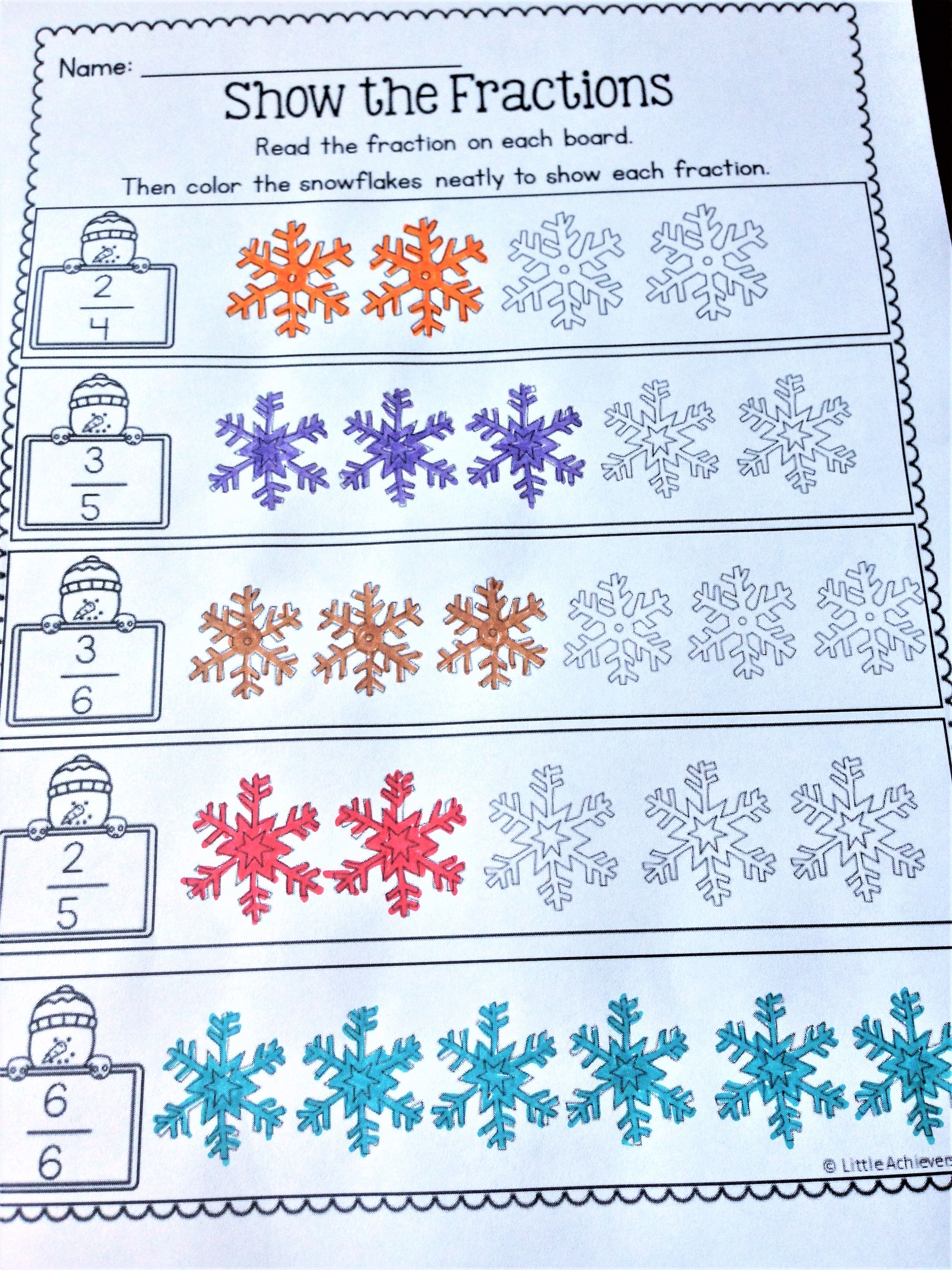 Winter Activities For First Grade