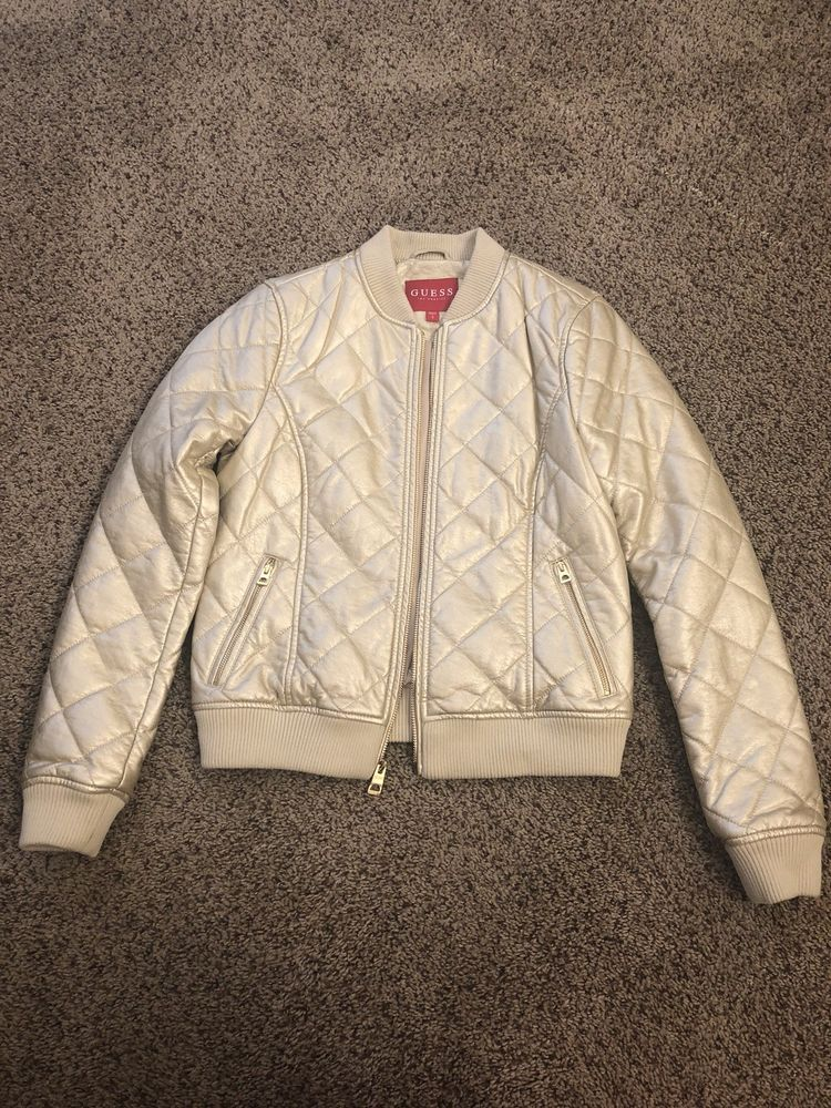 49c7c987c51 GUESS Los Angeles Women's Gold Size Small Quilted Jacket #fashion #clothing  #shoes #accessories #womensclothing #coatsjacketsvests (ebay link)