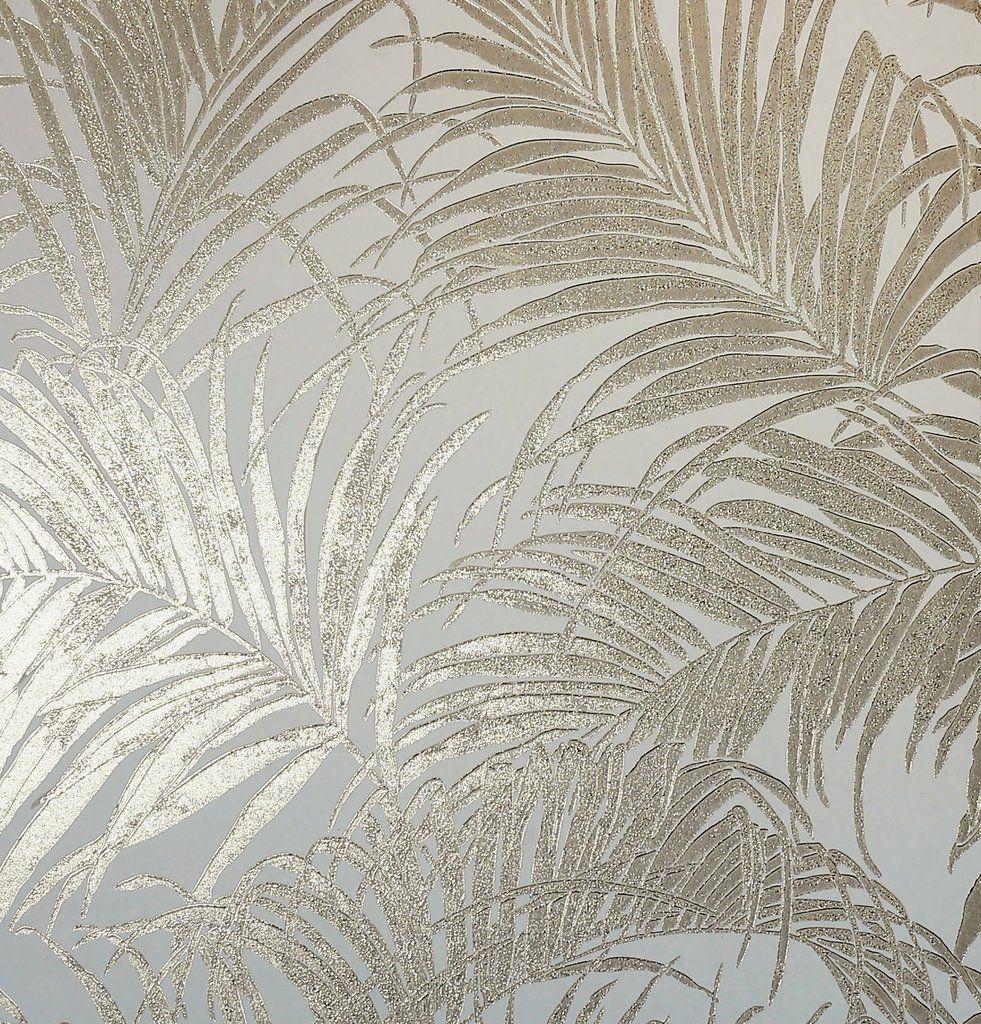 Arthouse Wallpaper Kiss Foil Palm Gold Cream 903201 Gold Wallpaper Cream And Gold Wallpaper Metallic Wallpaper