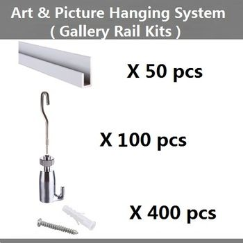 Buy Free Shipping Art Hanging Hardware Picture Hanging Systems Wall Mounted Rail Gallery Hanging Rail Hook Wire S Hanging Art Picture Hanging Hanging Hardware