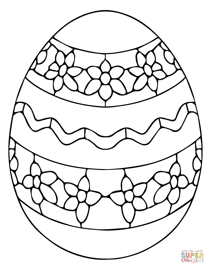 Ukrainian Easter Egg Coloring Page From Category Select 27743 Printable Crafts Of Cartoons