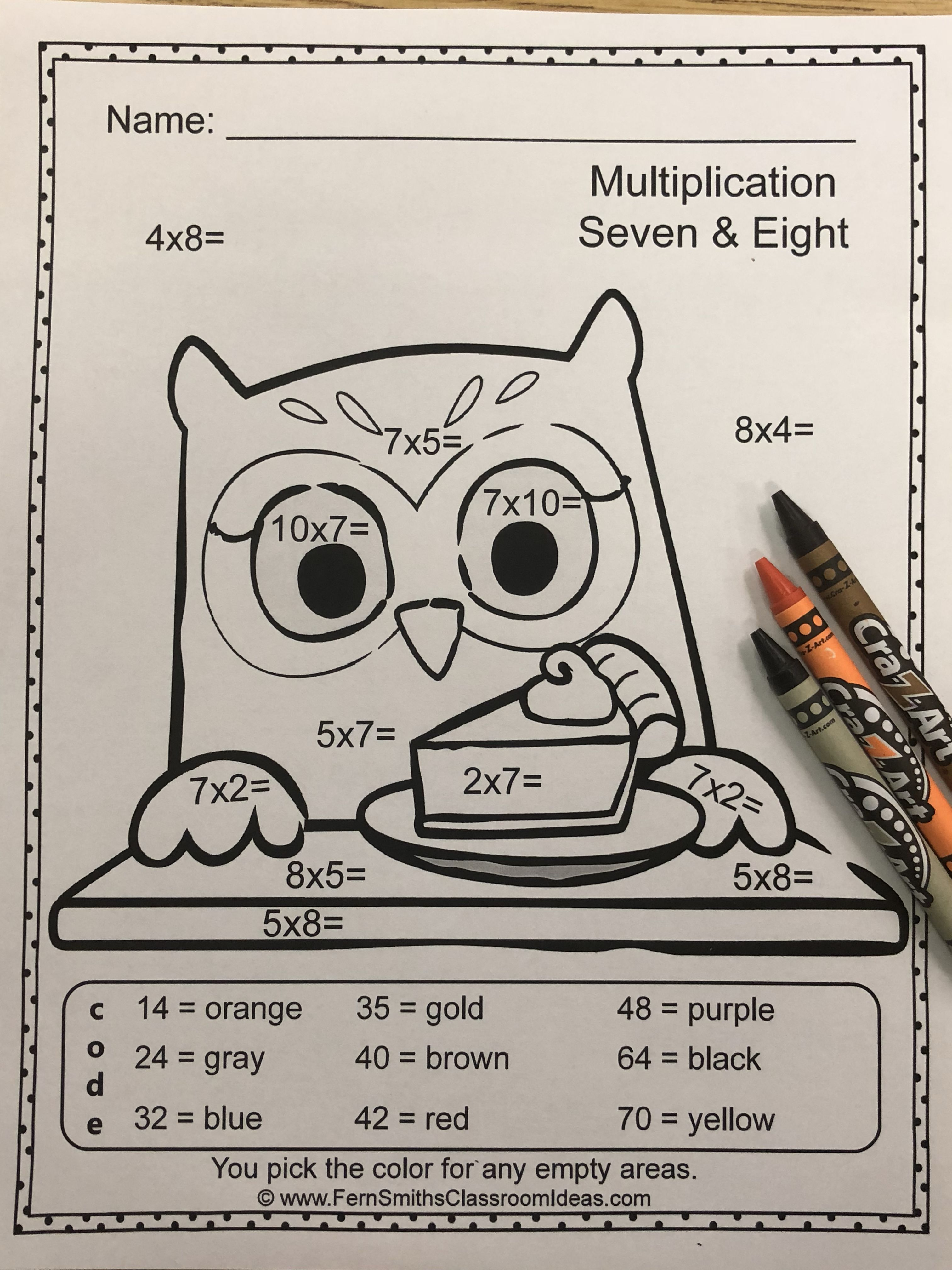 Thanksgiving Color By Number Multiplication And Division