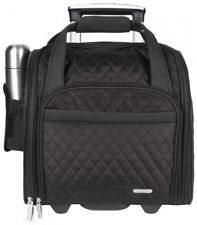 Travelon Wheeled Underseat Carry-On With Back-Up Bag Black One Size