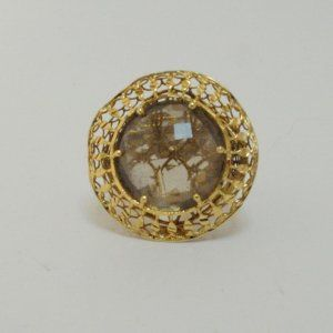 Lot # 44: Beautiful Italian 14kt. Gold Smoky Topaz Ring.  *NO RESERVE* Gold Rush Pays Auction Rodeo: July 30th at 2pm EST