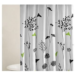 green and gray shower curtain. Shop for Perry Ellis Asian Lilly Shower Curtain  Free Shipping on orders over 45 at