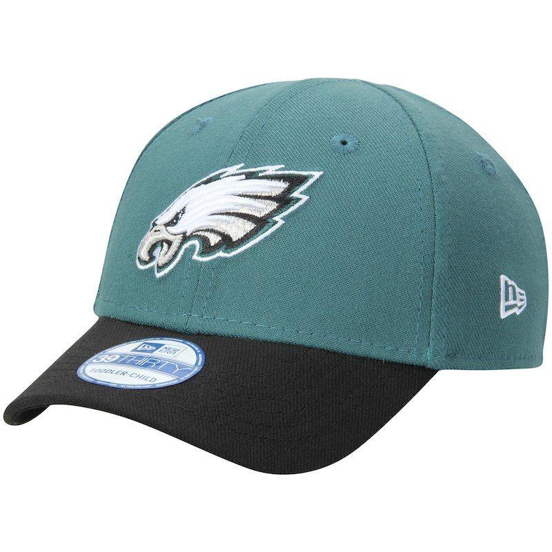 finest selection 825a4 89620 Philadelphia Eagles New Era Toddler Team Classic 39THIRTY Flex Hat -  Midnight Green Black