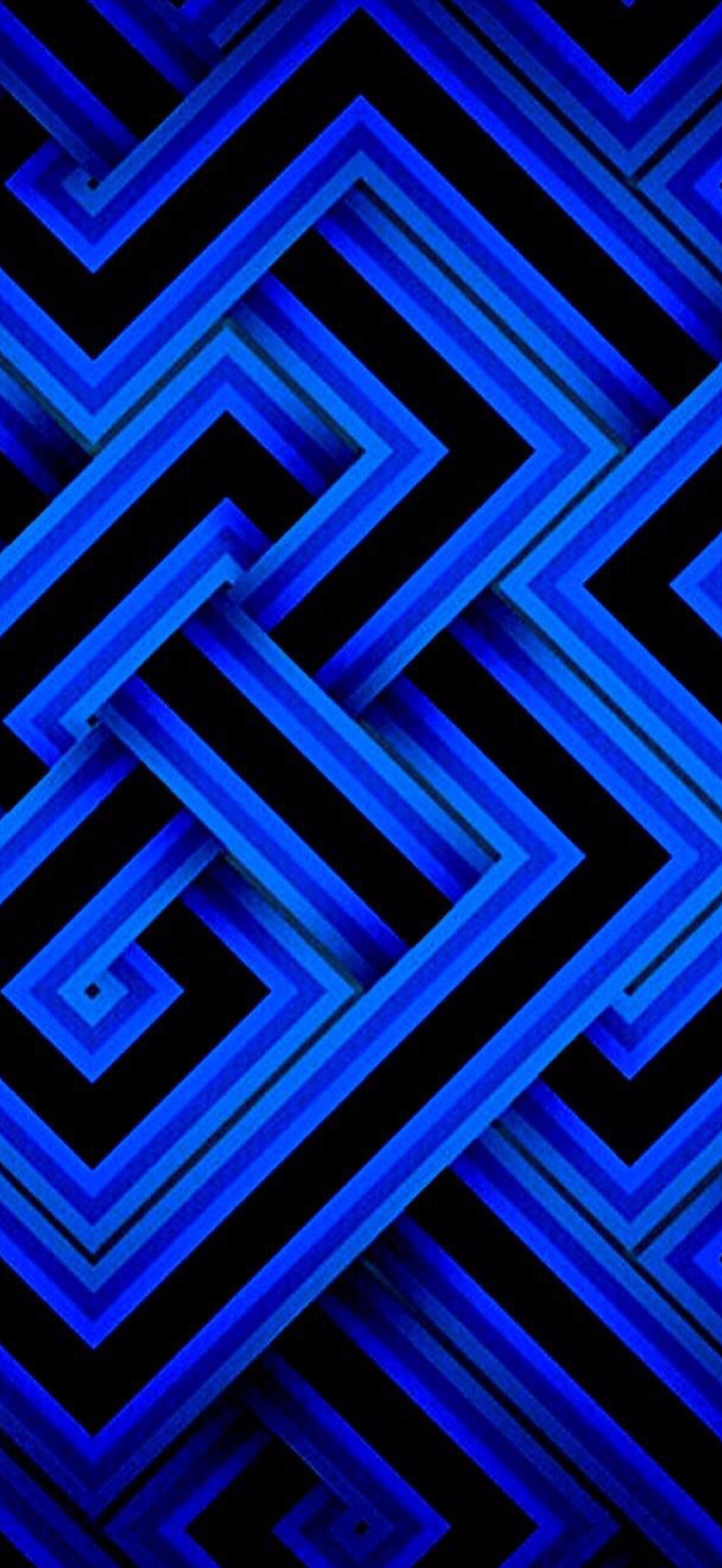 Wallpaper Cobalt Blue 003 resized for iPhone X (With