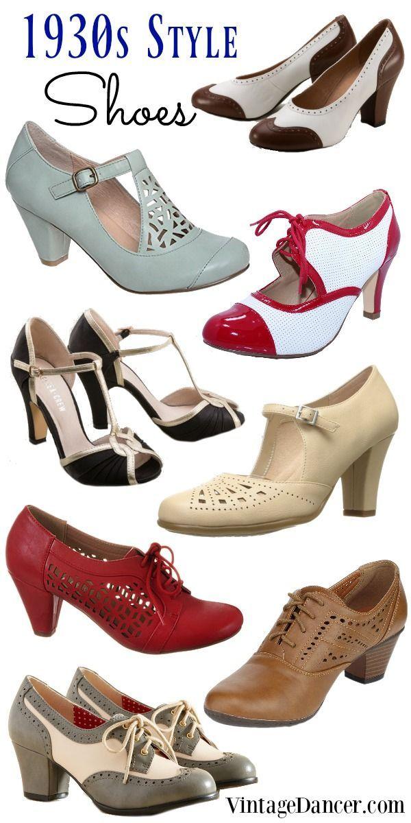 1930er Jahre Schuhe, 1930er Jahre Stil Schuhe, dreißiger