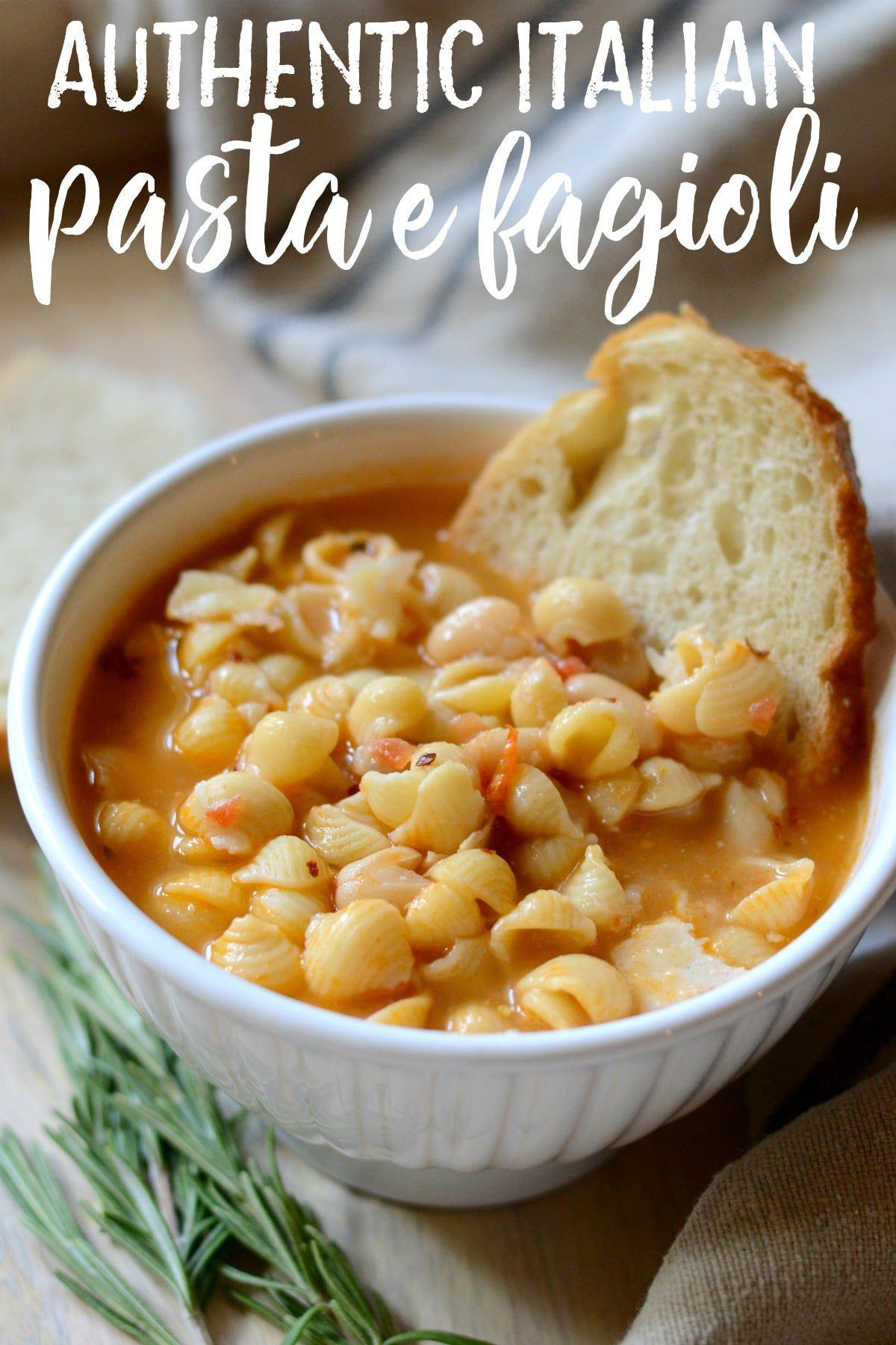 The BEST Authentic Pasta e Fagioli | Recipe | Italian soup recipes, Pasta e  fagioli, Pasta e fagioli soup