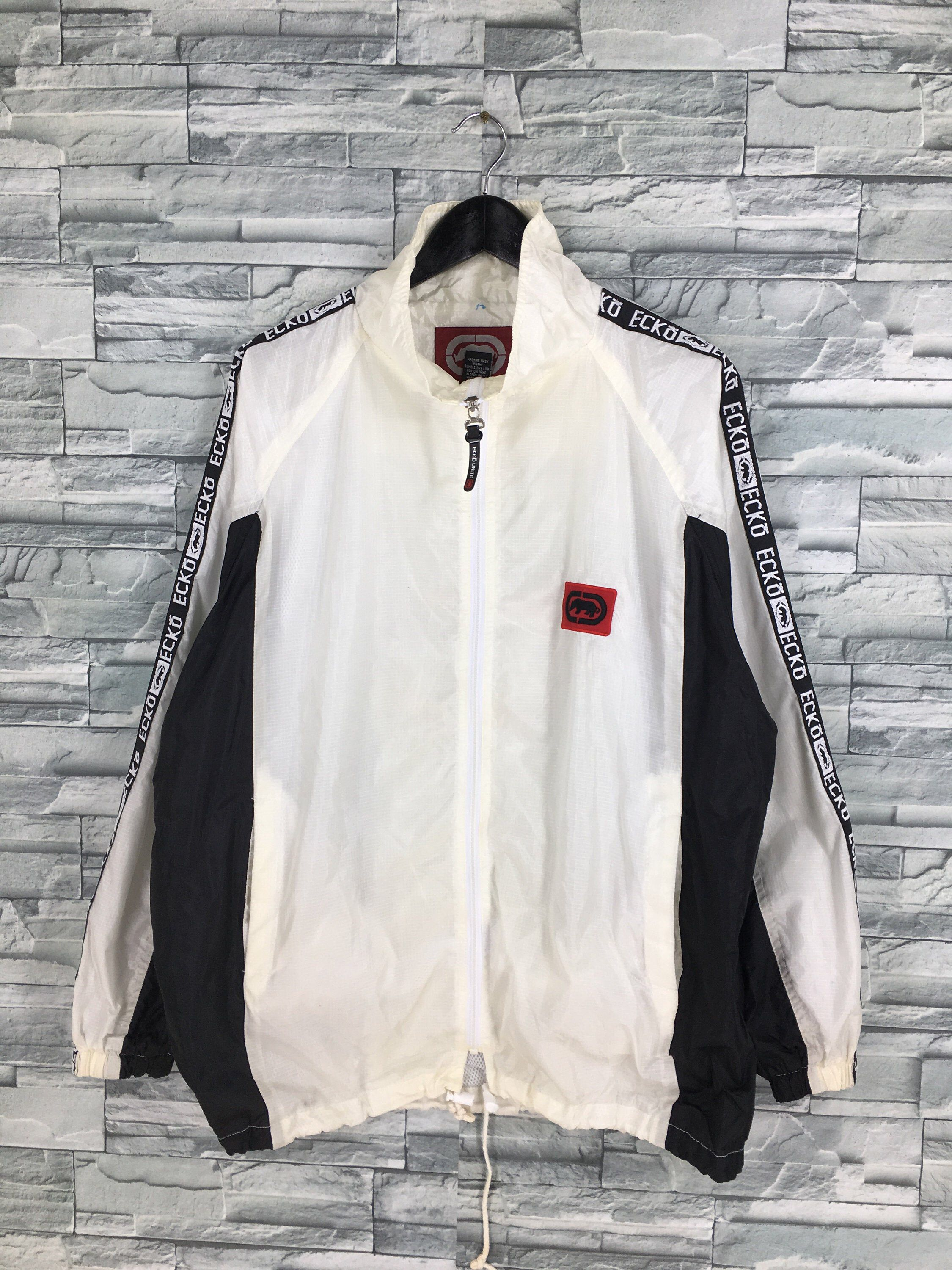 Excited To Share This Item From My Etsy Shop Ecko Function Windbreaker Jacket Large Vintage 90 S Ecko Hip Hop Big Logo Sportswear White Zipper Jacket Ecko Wu [ 3000 x 2250 Pixel ]