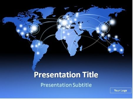 Free Worldwide Route Map Powerpoint Template
