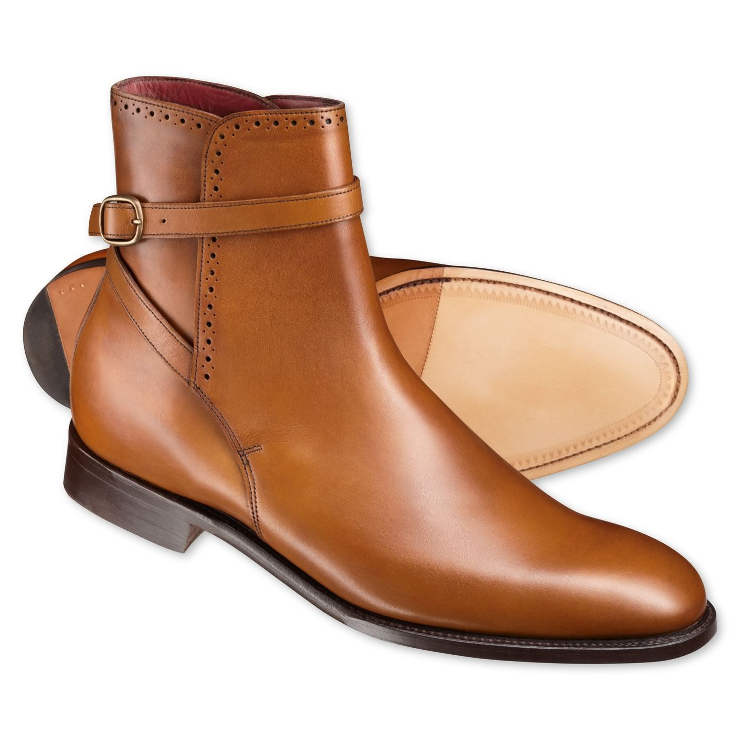 Tan luxury calf jodhpur boots  Mens boots from Charles Tyrwhitt Jermyn  Street London