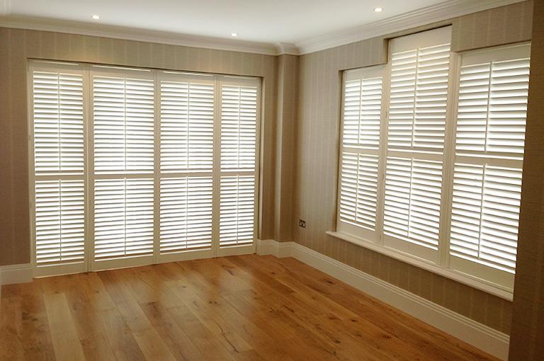 Living room shutters by PlantationShutters London UK