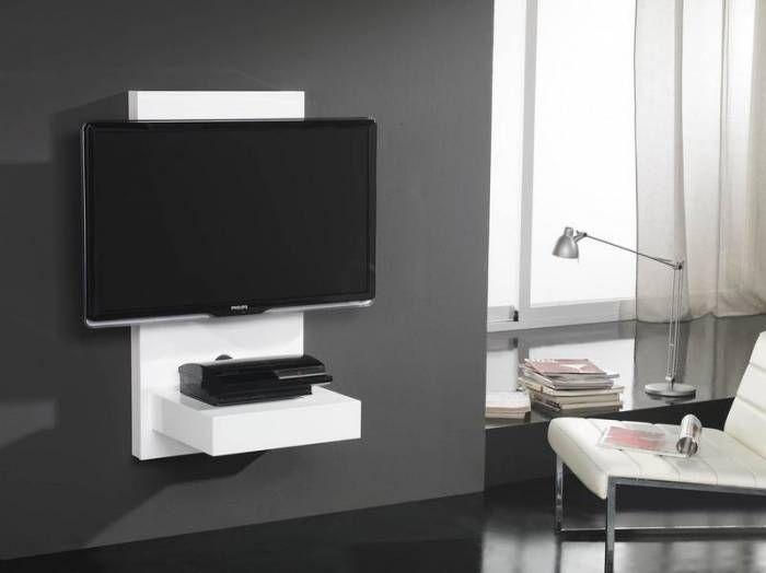 meuble tv mural petit meuble tv mural pour cran plasma lcd gisan sm110bl privadis salon. Black Bedroom Furniture Sets. Home Design Ideas