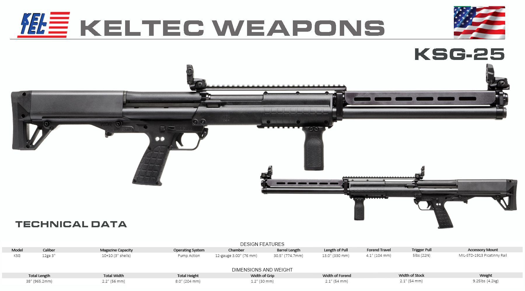 Kel-Tec - KSG-25 | 2nd | Guns, Tactical shotgun, Weapons guns