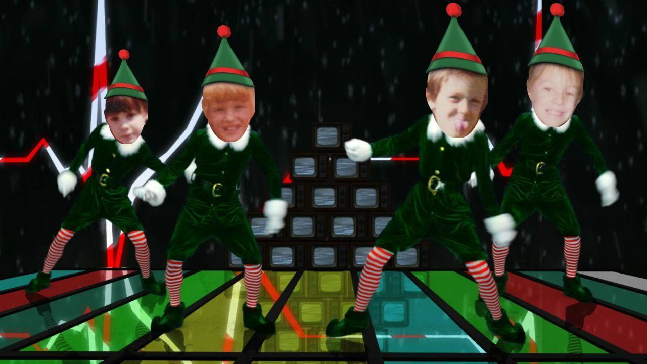 Sibling Elves Christmas Dance Holiday Christmas Holidays