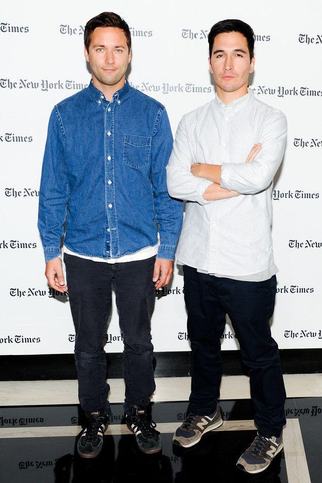 "<strong>Jack McCollough </strong> (left) <em> Co-designer of Proenza Schouler</em> | Isherwood Den Bleached Denim Shirt, <em>$220, <a href=""http://www.acnestudios.com"" target=""_blank"" class=""icon none"" >acnestudios.com</a>;</em> Samba Shoes, <em>$65, <a href=""http://www.adidas.com/us/"" target=""_blank"" class=""icon none"" >adidas.com</a> </em> <br/> <strong>Lazaro Hernandez </strong> (right) <em> Co-designer of Proenza Schouler</em> | 1300 Sneakers, <em>$150, <a href=""http://www.newbalance.com""…"