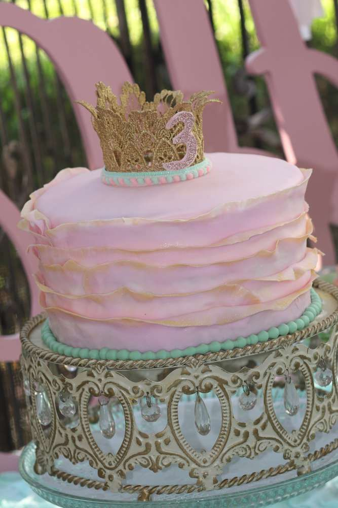 Princess and the frog birthday party cake! See more party planning ideas at CatchMyParty.com!