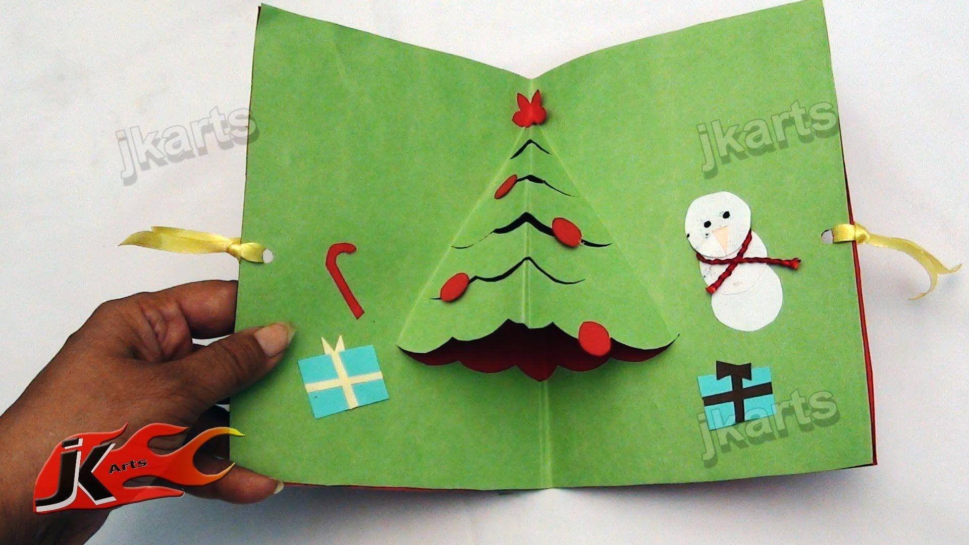 Diy How To Make Easy Christmas Greeting Card School Project For