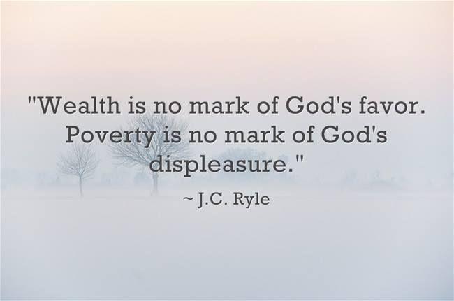 Let's please forget the prosperity gospel in favor of logic.