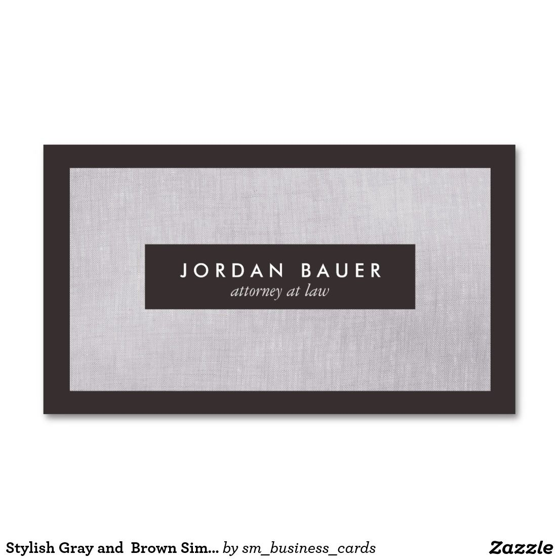 Stylish Gray and Brown Simple Professional Double-Sided Standard ...