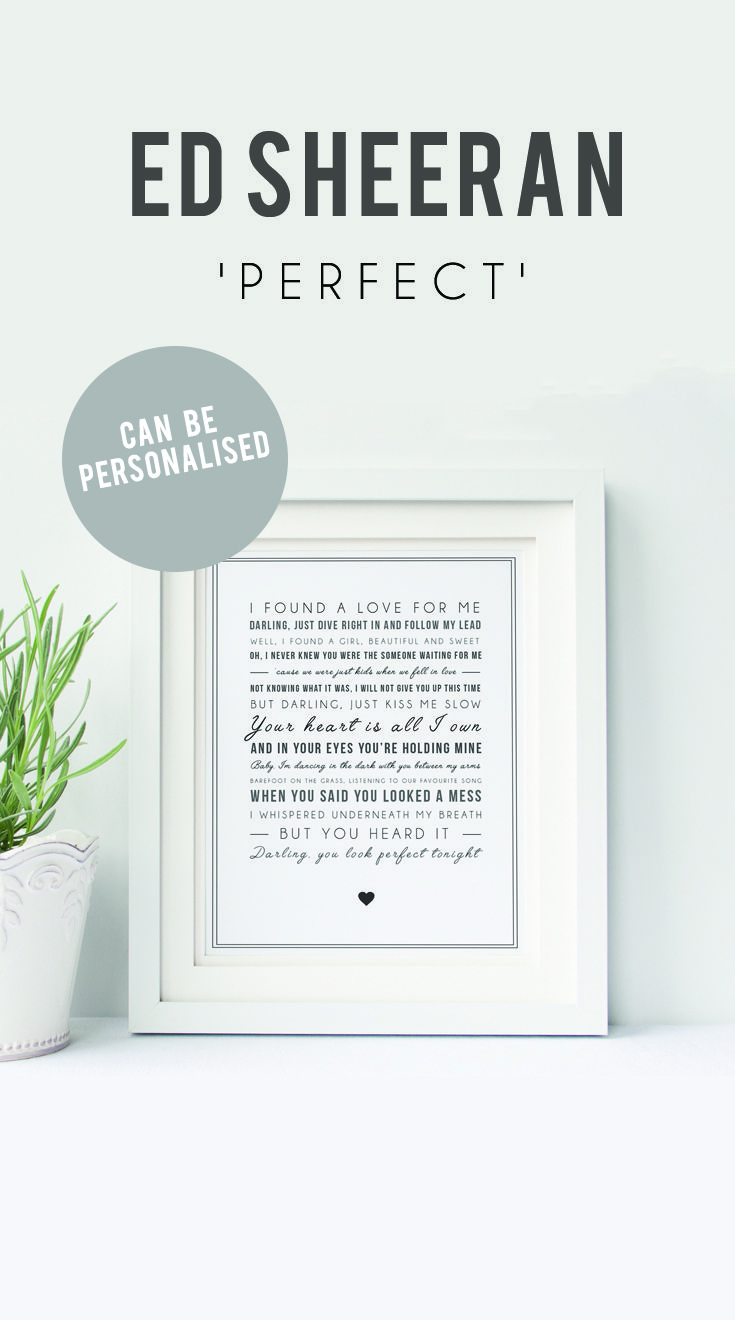 Personalised Ed Sheeran Print | Perfect Ed Sheeran | Perfect Print ...