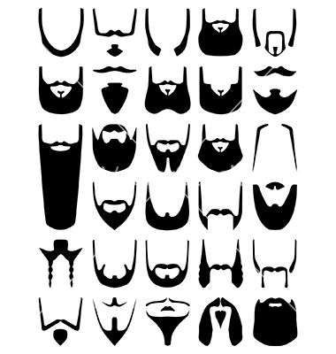 Pin Beard Clipart Graphic 3