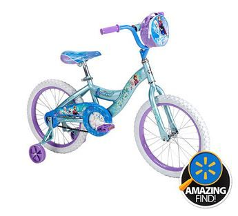 b79074c02e8 There is a nice deal on a cute little Frozen bike from Huffy today. This is  priced at $89 and it is 18 inches in size so great for little girls.